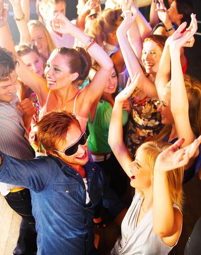 Folket på dansegulvet